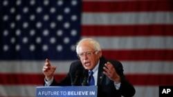Берни Сандерс проводит предвыборный митинг в Милуоки