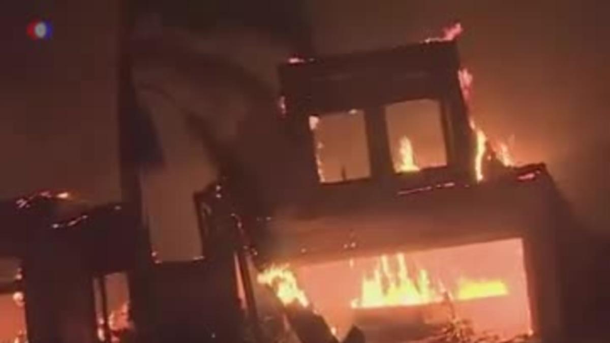 Природный пожар в Калифорнии