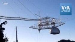Le télescope géant d'Arecibo à Porto Rico s'effondre