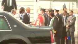 2015-01-25 美國之音視頻新聞: 奧巴馬抵印訪問 將縮短行程轉往沙特