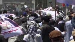 Afganistan'da Şiddeti Protesto Gösterisinde Kan Aktı