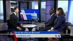 Washington Forum du jeudi 28 avril 2016 : Quelle issue à la crise burundaise, un an après ?