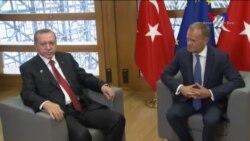 Erdoğan Macron ve AB Heyetiyle Görüştü
