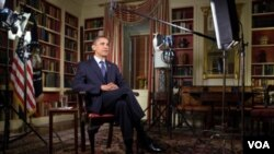 Obama habló desde la oficina Oval, en la Casa Blanca, sobre la retirada de las tropas estadounidenses de Irak y el futuro de Estados Unidos.