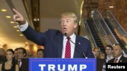 美国共和党总统候选人唐纳德·川普