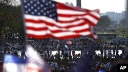 지난 10일 미국 워싱턴에서 이민 개혁을 요구하며 벌어진 시위.