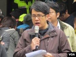 台湾大学法律系教授颜厥安(美国之音张永泰拍摄)