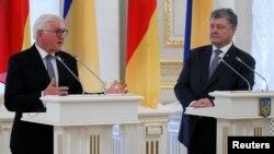 Президент Украины Петр Порошенко и президент Федеративной Республики Германия Франк-Вальтер Штайнмайер. Киев, Украина. 29 мая 2018 г.