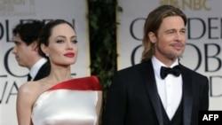 Анджелина Джоли и Брэд Питт прибыли на 69-церемонию вручения наград «Золотой глобус»