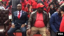 MDC-T officials and supporters.