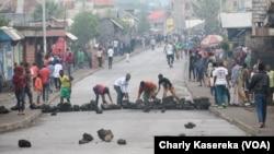En images : cinq morts lors de manifestations à Goma