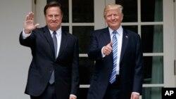 Президент США Дональд Трамп и президент Панамы Хуан Карлос Варела. Белый дом, Вашингтон. 19 июня 2017 г.