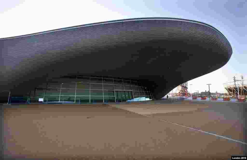 El Centro Acuático en el Parque Olimpico. Foto por David Poultney. @ LOCOG