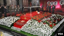 Jenazah mendiang Kim Jong Il akan disemayamkan secara permanen bersama jenazah ayahnya di istana Kumkusan, Pyongyang (Foto: dok).