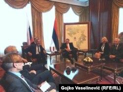 Ruski ministar vanjskih poslova Sergej Lavrov susreo se sa predjednikom Republike Srpske Miloradom Dodikom i premijerkom Republike Srspke Željkom Cvijanović, Banja Luka, 21. septembar 2018.