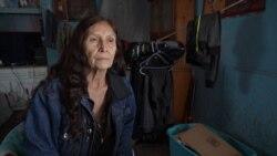 Lakota tribe female elder, resident of Wounded Knee, Pine Ridge Reservation, South Dakota.