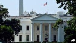 美國白宮外觀。