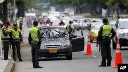Polisi Kolombia mengamankan acara KTT Aliansi Pasifik di Cali (foto: dok). Polisi dan badan-badan keamanan Kolombia melakukan penyadapan komunikasi secara besar-besaran di dalam negeri.