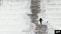 Рекордні морози в Європі. Знімок з Бухареста