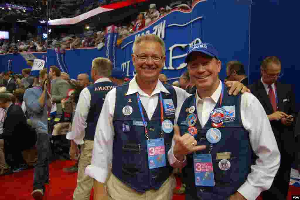 Des délégués du Montana à Tampa (J. Featherly/VOA)