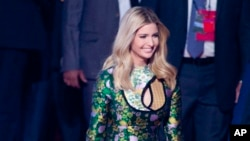 U.S. presidential adviser and daughter Ivanka Trump arrives for the opening of the Global Entrepreneurship Summit in Hyderabad, India, Nov. 28, 2017.