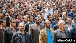 بخشی از ماموران نامحسوس پلیس در مراسم آغاز به کار طرح جدید نیروی انتظامی تهران