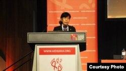 က်န္းမာေရးဒု၀န္ႀကီး ေဒါက္တာ သိန္းသိန္းေဌး Credit- Khawn Taung Hpaudaw, Coordinator at Myanmar Interfaith Network on AIDS (MINA)