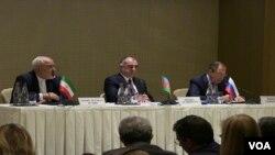 Azərbaycan, Rusiya, İran xarici işlər nazirləri görüşüb
