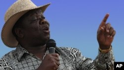Movement for Democratic Change (MDC-T) leader Morgan Tsvangirai.