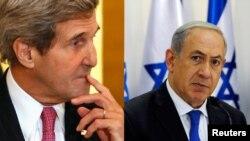 美国国务卿克里,以色列总理内塔尼亚胡