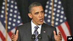 Le président Obama à l'université George Washington