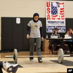 Kulsoom Abdullah preparing to compete