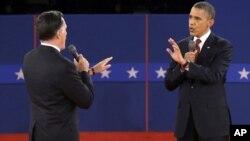 Debate animado entre o Presidente Obama e o seu adversário Mitt Romney