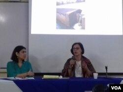Ruth Herrera, expresidenta ejecutiva de la Empresa Nicaragüense de Acueductos y Alcantarillados.