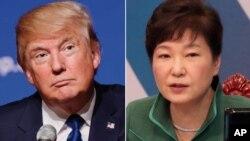 도널드 트럼프 미국 대통령 당선인(왼쪽)과 박근혜 한국 대통령.
