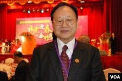 中國全國台灣同胞投資企業聯誼會榮譽會長張漢文。(美國之音湯惠芸)