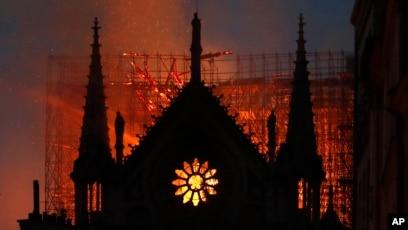 Image result for Notre Dame burning
