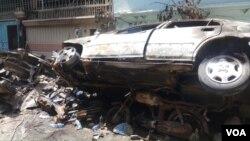 کراچی طیارہ حادثہ: جناح گارڈن میں تباہی کے مناظر