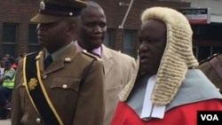 Justice Luke Malaba outside the Bulawayo High Court on Monday.