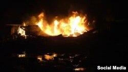 عکسی منتسب به حمله موشکی به اردوگاه لیبرتی