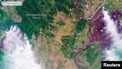 Лесные пожары охватили огромные территории на северо-востоке России