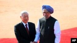 Tổng bí thư Nguyễn Phú Trọng đang có chuyến thăm bốn ngày tới Ấn Ðộ theo lời mời của Thủ tướng Manmohan Singh