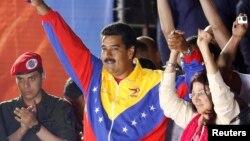 Nicolas Maduro û hevjîna wî, Cilia Flores.