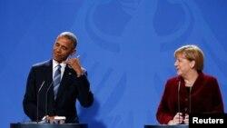 آنگلا مرکل اخیرا با باراک اوباما، رئیس جمهوری آمریکا دیدار و گفتگو کرد.