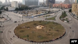 A general view of Cairo's Tahrir Square, taken on Jan. 26, 2014, the day after thousands of demonstrators protested in the square.
