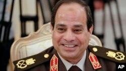 이집트 대통령 선거에서 97%의 압도적인 득표로 승리가 확정된 압델 파타 엘 시시 전 국방장관. (자료사진)