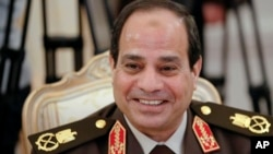 FILE - Egypt's former military chief Field Marshal Abdel-Fattah el-Sissi.