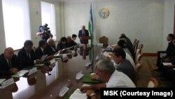 O'zbekiston Markaziy Saylov Komissiyasi yig'ilishda