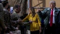 သမၼတ Trump ကန္တပ္ေတြႏႈတ္ဆက္ဖုိ႔ အီရတ္ကုိ ရုတ္တရက္သြားေရာက္