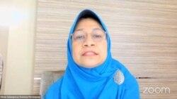 Komisioner Komnas Perempuan Olivia Chadidjah Salampessy dalam Diskusi Publik Satu Dasawarsa Konvensi ILO 189, Saatnya Indonesia Meratifikasi untuk Pengakuan dan Perlindungan Pekerja Rumah Tangga, Kamis (17/6), dalam tangkapan layar.